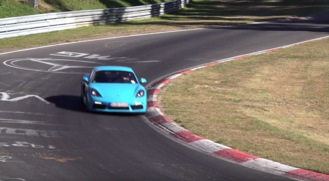 Porsche 718 Cayman S Laps Nurburgring In 7 46 Second Fastest 4 Cylinder Car
