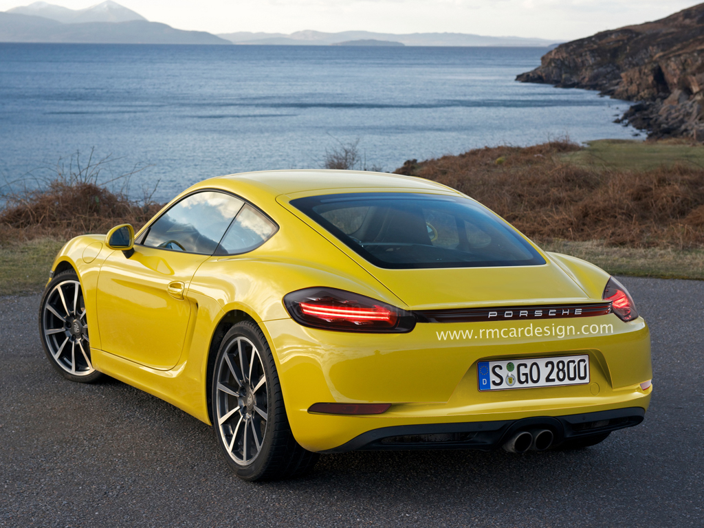 Porsche 718 Cayman The Y Rear View Gets Rendered