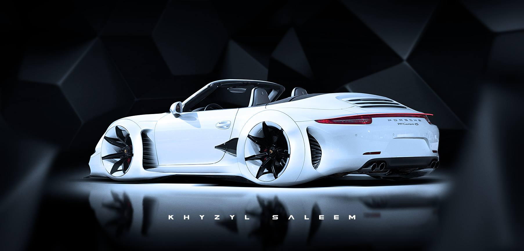 Porsche 911 Cabriolet Turned Into Audi Rsq Lookalike That