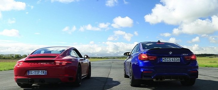 Porsche 911 Carrera Gts Murders Bmw M4 Cs In Drag Race