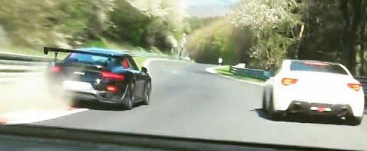 porsche 911 gt2 rs vs lamborghini huracan performante nurburgring chase is lit autoevolution. Black Bedroom Furniture Sets. Home Design Ideas