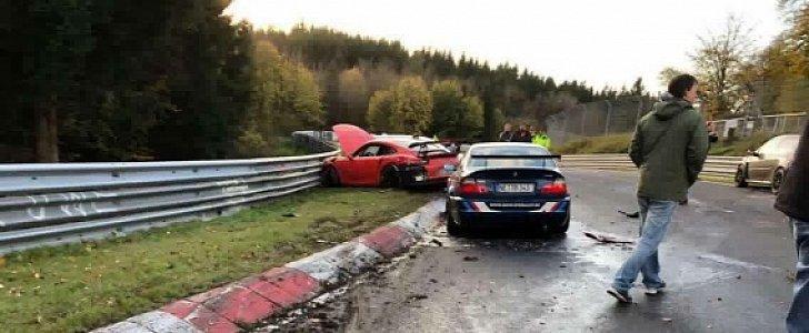Park Place Mercedes >> Porsche 911 GT3 RS Coolant Spill Causes 14-Car Nurburgring Crash - autoevolution