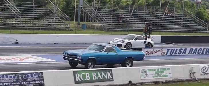 photo of Porsche 911 GT3 RS Drag Races Turbo El Camino and It's Way Too Close for Comfort image