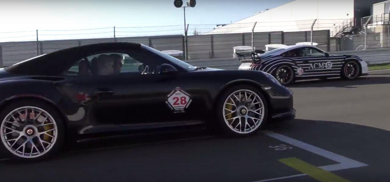 porsche 911 gt3 rs driver forces his luck drag races 911. Black Bedroom Furniture Sets. Home Design Ideas