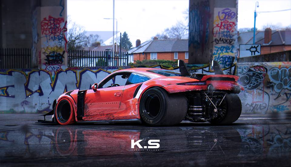 Porsche 911 GT3 RS PDK Gets Dismantled, Receives Chevy V8 in ...