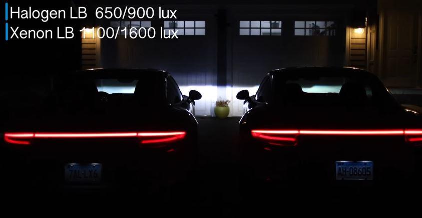 Porsche 911 Led Vs Xenon Comparison Comes From Youtuber