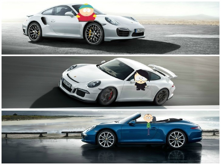 Porsche 911 Range Explained with South Park Characters