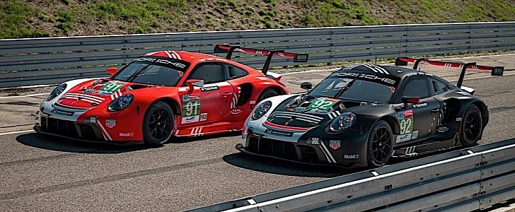 photo of Porsche 911 RSR to Race at Le Mans in Special Colors Honoring First Win image