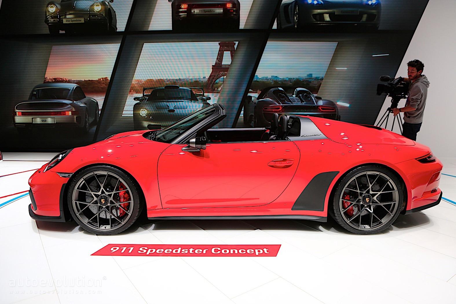 porsche 911 speedster concept shines in paris 1 948 units coming in 2019 autoevolution. Black Bedroom Furniture Sets. Home Design Ideas