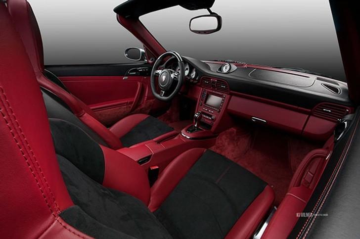 porsche 911 turbo cabriolet gets carbon fiber and alcantara interior from vilner autoevolution. Black Bedroom Furniture Sets. Home Design Ideas