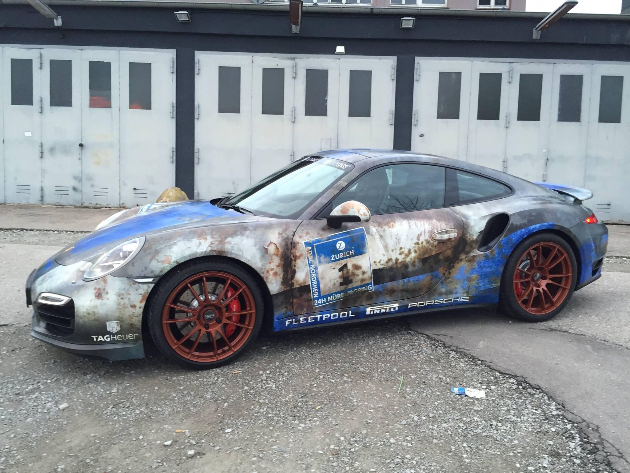 Porsche 911 Turbo With Rusty Wrap