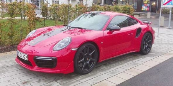 Porsche 911 Turbo S Exclusive Series Carbon Fiber Wheels Spotted In