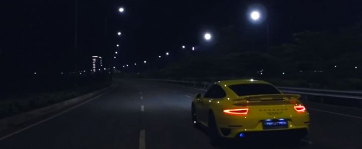 Porsche 911 Turbo S Lights Up The Night With Tuned Exhaust