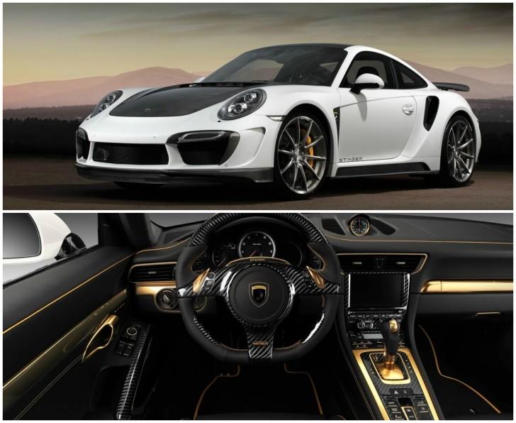 Porsche 911 Turbo Stinger Gtr By Topcar Has 24k Gold Interior Autoevolution