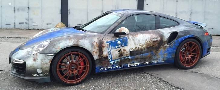 Porsche 911 Turbo Gets Rusty Wrap, Salutes Barn Find Time ...