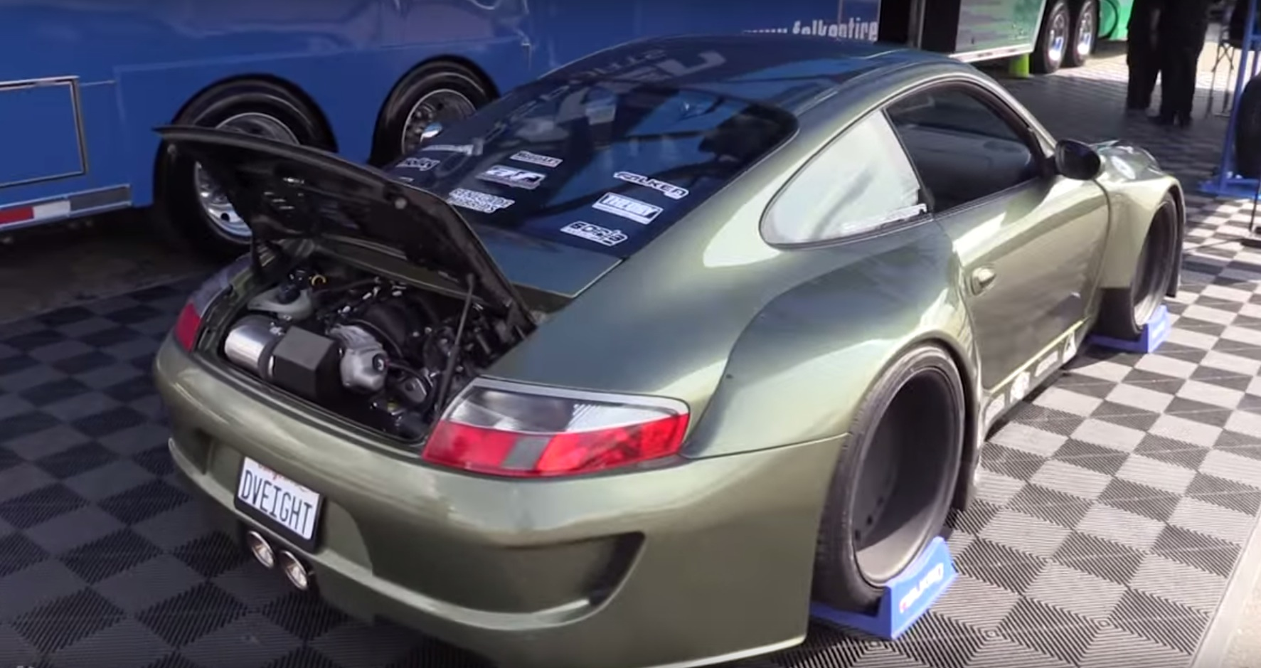Porsche 911 with LS3 V8 and Wide Body Kit Looks Like a at LS ...
