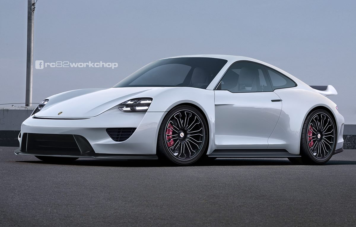 Porsche 911 With Mission E Front Fascia Makes For One