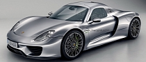 Porsche 918 Coupe with Gullwing Doors: Rendering