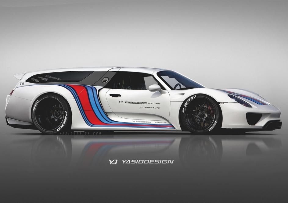 Porsche 918 Shooting Brake Rendered As The Panamera Sport