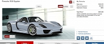Porsche 918 Spyder Configurator Online: How To Spend $1M