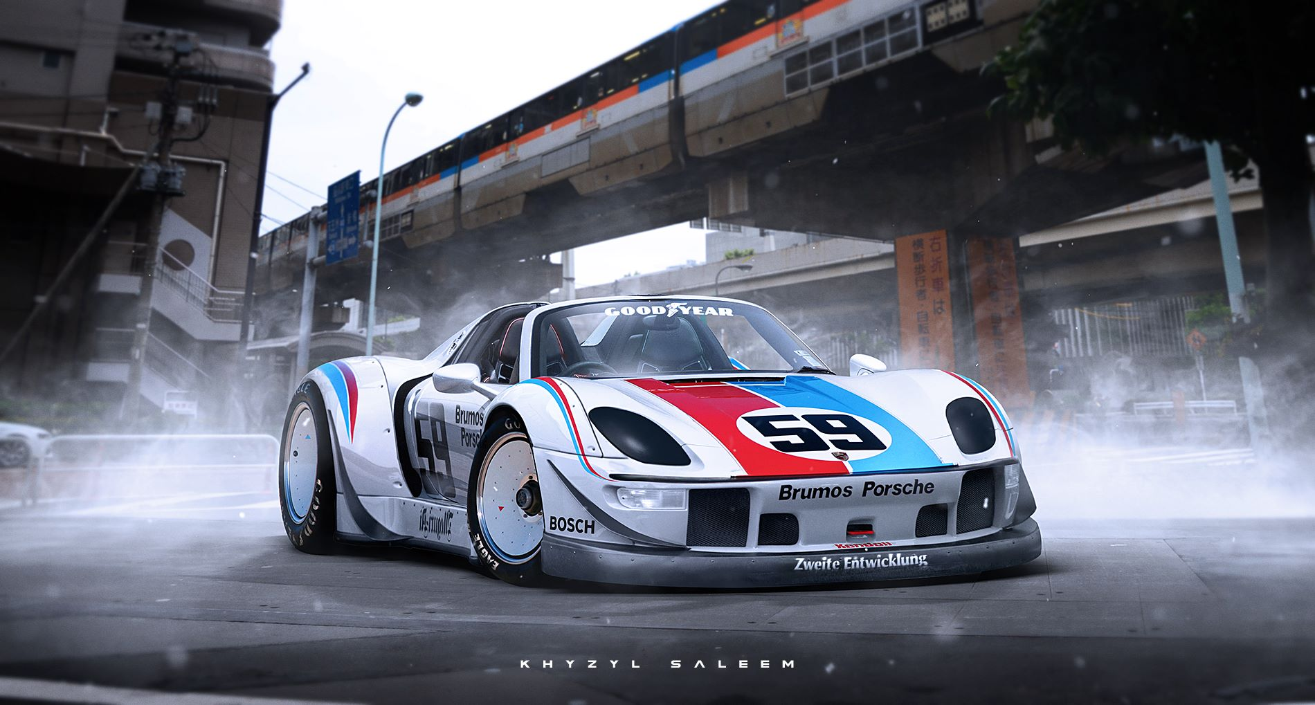 porsche 918 spyder gets rauh welt begriff body kit in extremely wild renderin. Black Bedroom Furniture Sets. Home Design Ideas