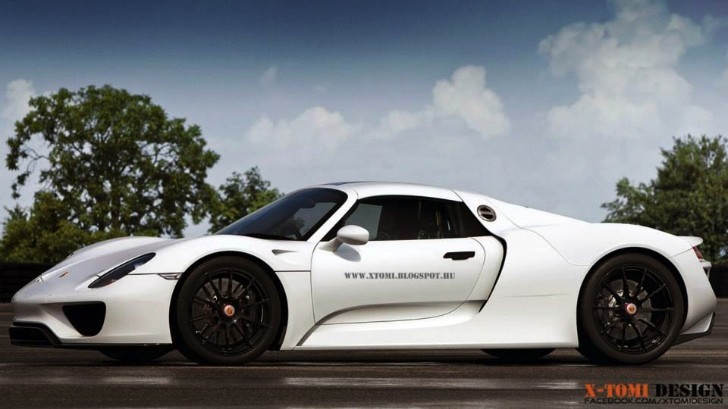 Porsche 918 Spyder Looks Clean in Plain White [Rendering]