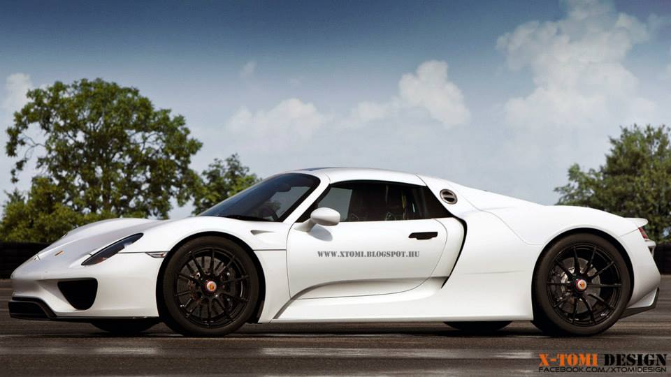 porsche 918 spyder looks clean in plain white rendering - Porsche 918 Spyder White
