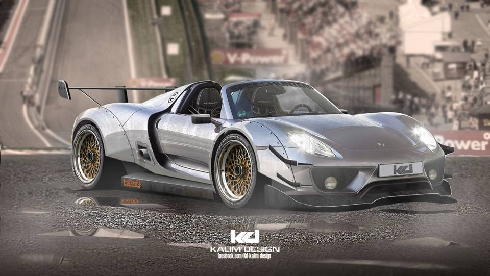 Porsche 918 Spyder Racecar Rendered As Ferrari Fxx K
