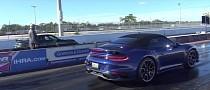 Porsche 992 Turbo S Stock Vs Tuned Drag Race Shows Massive Difference