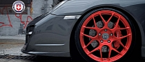 Porsche 997 Turbo on HRE Brushed Red Wheels [Photo Gallery]