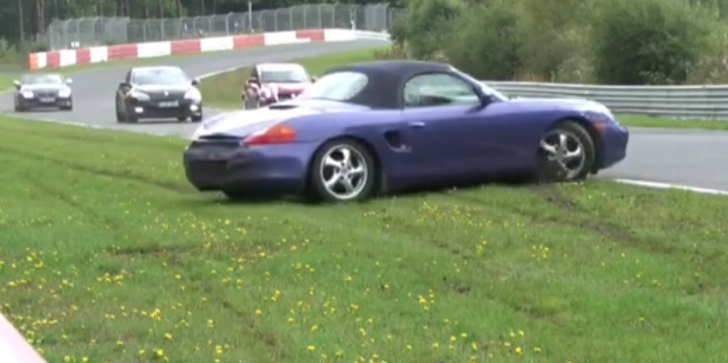 Porsche Boxster Has Soft Crash at Nurburgring [Video]