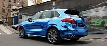 Porsche Cayenne Blue Chrome [Photo Gallery]