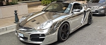 Porsche Cayman by Techart Gets Chrome Wrap [Video]