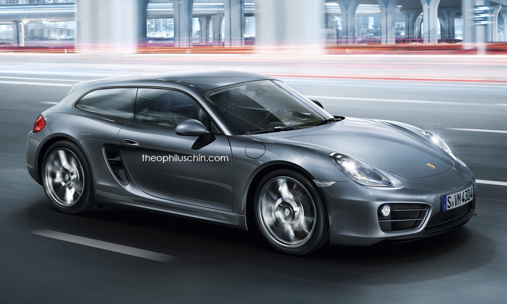 porsche cayman shooting brake why a cayvan wouldn t work autoevolution. Black Bedroom Furniture Sets. Home Design Ideas