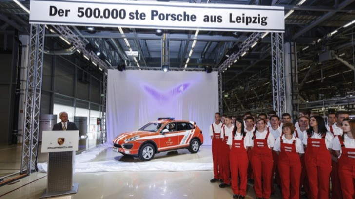 Porsche Leipzig Plant Builds 500,000th Car, a Cayenne