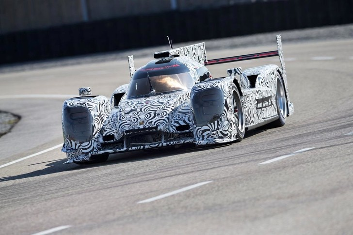 Porsche LMP1 Race Car Beings Track Testing, New Photos Revealed