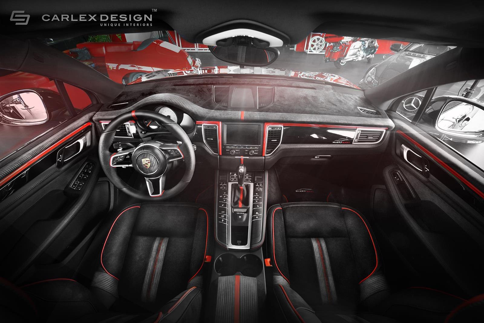 porsche macan gets a berserk red and black interior makeover from carlex design autoevolution. Black Bedroom Furniture Sets. Home Design Ideas