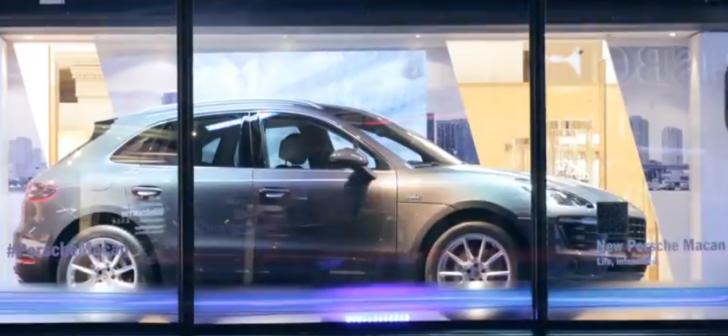 Porsche Macan Makes UK Debut in Harrods Window