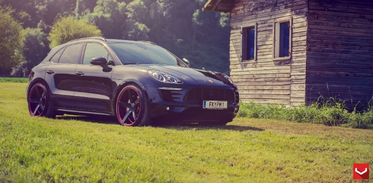 Porsche Macan Stanced On Custom Vossen Wheels Autoevolution