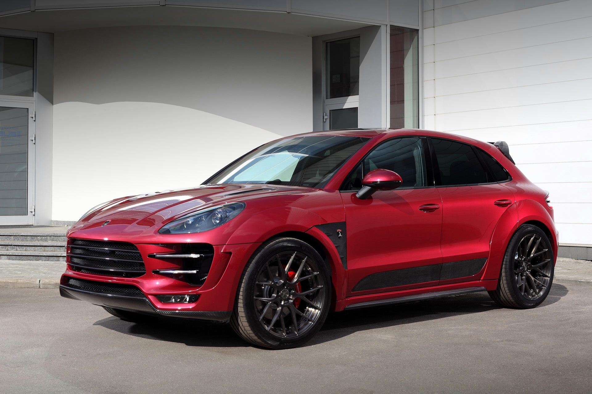 Porsche Mancan Ursa By Topcar Gets Cherry Red Paint And Adv 1 Wheels Autoevolution