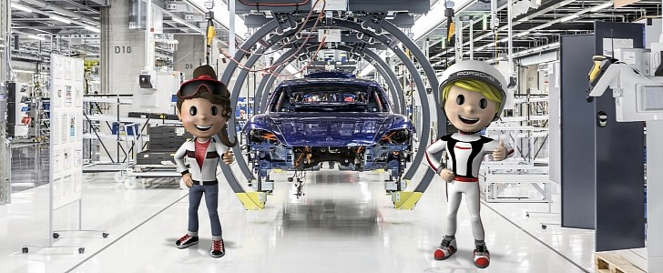 Porsche Museum Brings Kids to the 'Car Factory' to See How a Taycan Is Made
