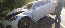 Porsche Panamera Gets Serious Facelift by Crashing in Slovakia