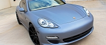 Porsche Panamera S Hybrid Gets Matte Silver Wrap [Photo Gallery]