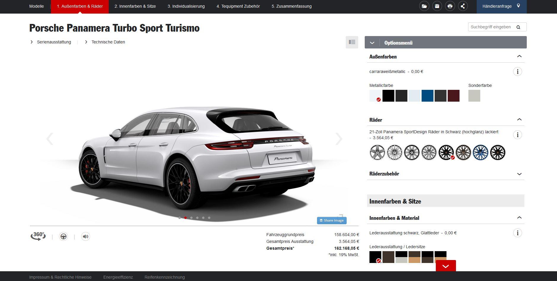 Porsche Panamera Sport Turismo Configurator Launched - autoevolution