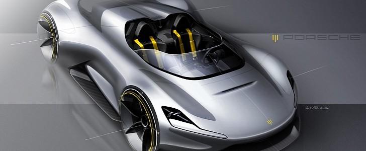 photo of Porsche Speedster Sketch Looks Like the Tesla Roadster Killer the World Needs image