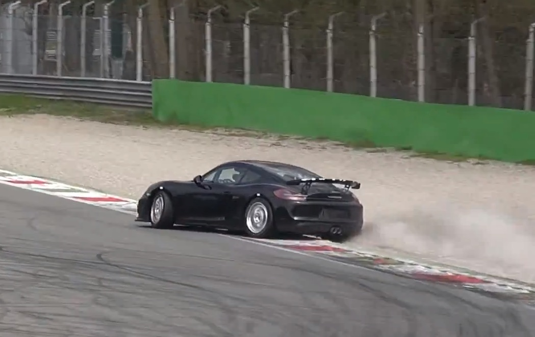 Porsche Spied Testing Track Only Cayman Gt4 As New Entry Level