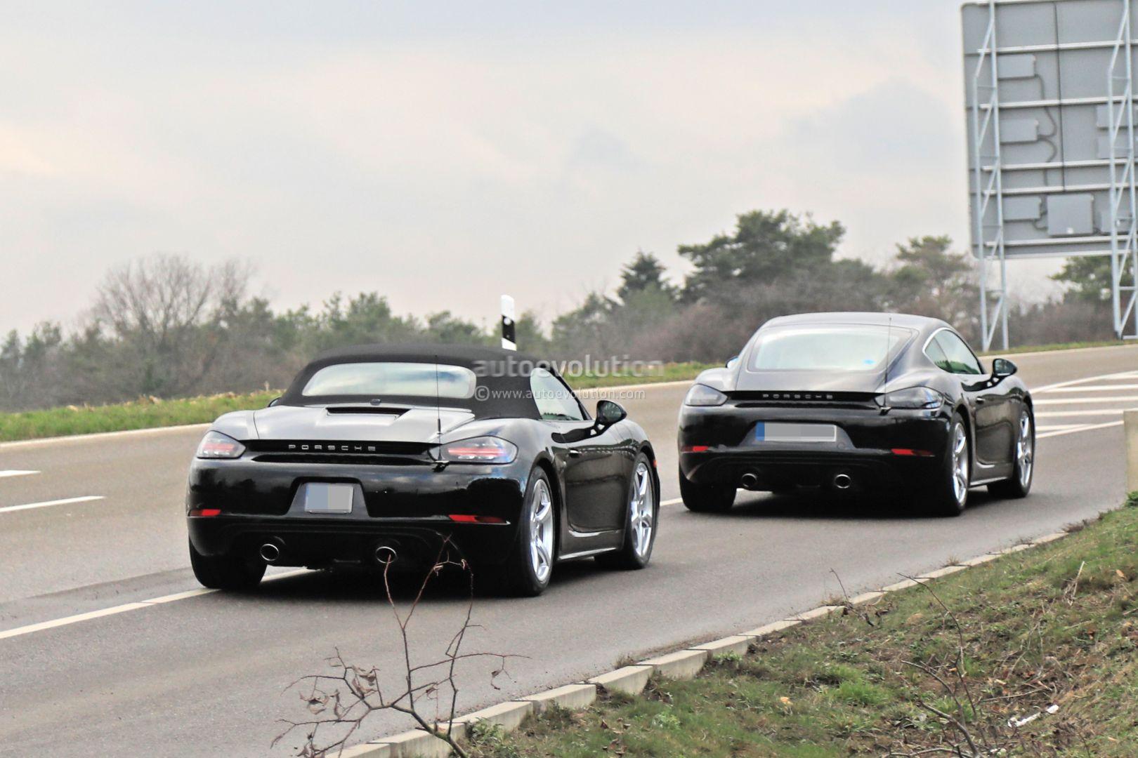Porsche Starts Testing Hybrid Boxster And Cayman Alongside Electric Models Autoevolution