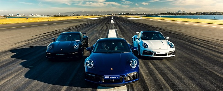 Porsche Takes Over Iconic Sydney Airport Runway to Play With the 911 Turbo S
