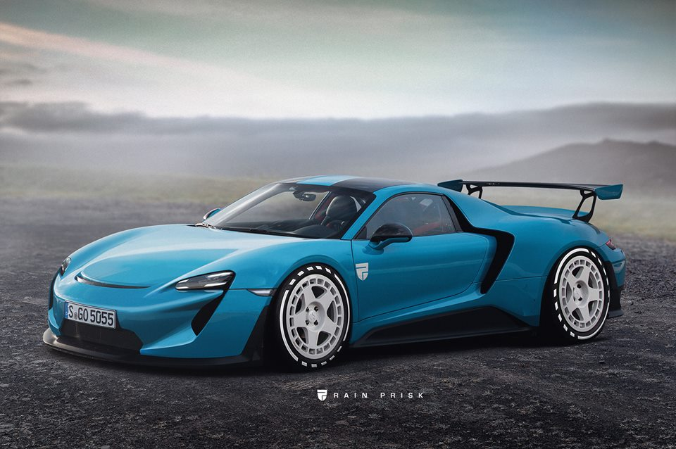 Porsche Taycan Coupe Rendered As The Electric Supercar