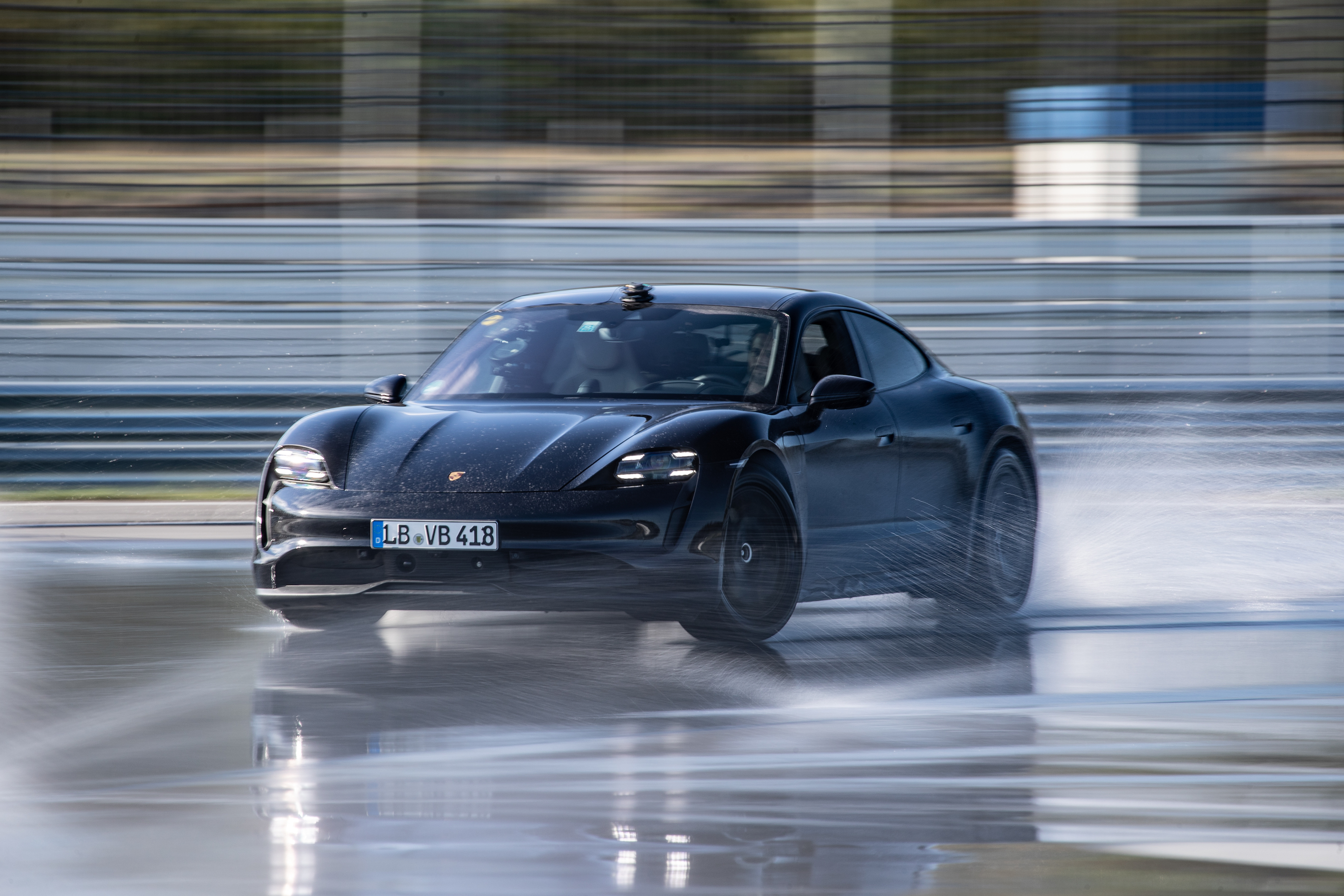 This Porsche Taycan EV drifts into Guinness World Records. No, literally